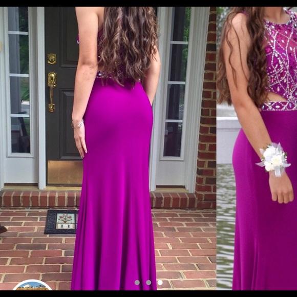 PromGirl Dresses | Prom Dress Magenta Size Medium Great Condition ...